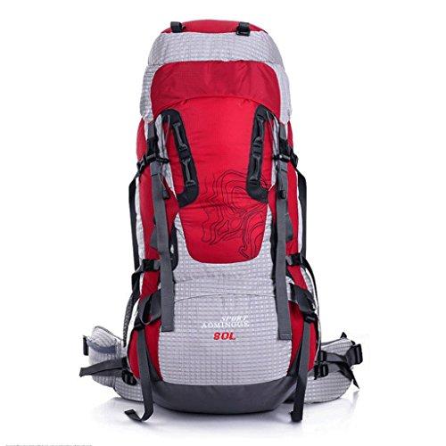 sac extérieur sac de sac de rangement escalade d'équitation grande capacité randonnée imperméable à l'eau sac à dos 80L