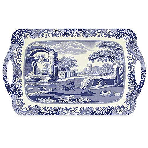 Portmeirion Home & Gifts Grand plateau italien Bleu 48 x 29,5 cm