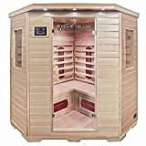 Home Deluxe – Infrarotkabine – Redsun XXL – Keramikstrahler– Holz: Hemlocktanne - Maße: 150 x 150 x 190 cm – inkl. vielen Extras und komplettem...
