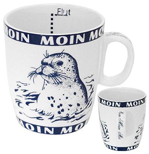 Delta Products Becher Seehund/Robbe Moin Moin Innen Ebbe und Flut 0,2l