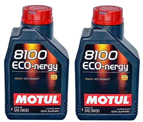 Motul 8100 Eco-nergy 0W30 volledig synthetische motorolie Volvo VCC95200377, 2 liter