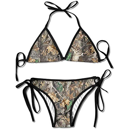 Sdltkhy Bikini Set, Frauen Realtree Camo Wallpapers Bikini Set Badeanzug Badeanzug