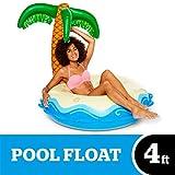 Bigmouth Inc. riesige, aufblasbare Palme, Luftmatratze, lustiges, aufblasbares Schwimmbad- oder Strandspielzeug aus Vinyl, Reparaturkit enthalten