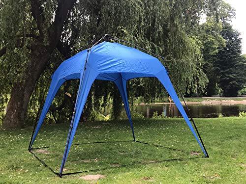 Defacto Outdoor Pop Up Faltbar Pavillon Gartenzelt Camping Partyzelt Zelt inkl. 2 Seitenteile 250x190 BLAU
