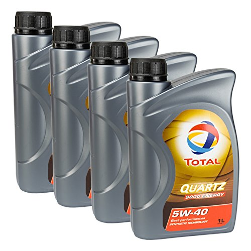4x MOTORÖL TOTAL QUARTZ 9000 ENERGY 5W-40 1L