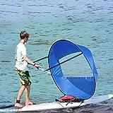 chinejaper 42 Zoll Downwind Wind Paddle Kajak Boot Wind Segel, Kayak Sail, Kayak Wind Sail mit klarem Fenster, Kayak Accessorie, Einfach Tragbar für Fischen Ruderboot aufblasbarem Außenbord-Driften