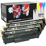 Prestige Cartridge Q2612A 12A Cartuchos de Tóner Compatible con HP Laserjet 1010 1012 1015 1018 1020 1022 1022N 1022NW 3010 3015 3020 3030 3050 3052 3055 M1005 M1319F | Pack de 3