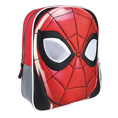 ARTESANIA CERDA Mochila Infantil Personaje Spiderman, Rojo, 31 cm