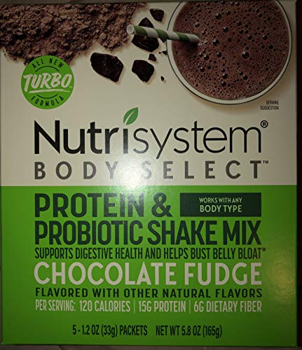 Nutrisystem Body Select Protein and probiotic shake mix Chocolate fudge