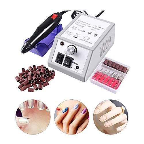 Torno para Uñas con Set de 6 Tipos Manicura Eléctrico Manicura Eléctrica...