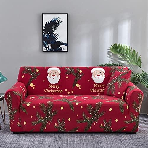 copridivano di natale Copridivano Elasticizzato Natale Babbo Natale Albero Di Natale A 3 Posti Copridivano Antiscivolo A Tre Posti con Copricuscino Separato per Animali Domestici