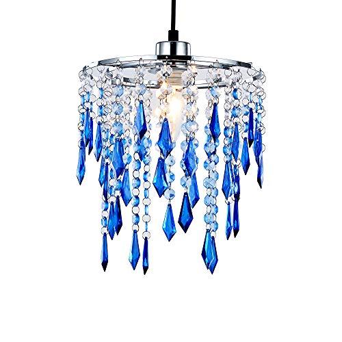 INNOTECK Ocean Decken-Kronleuchter, Acryl-Lampenschirm, Blau