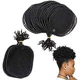 Ponytail Net 5Pcs Hairnet Wig Cap For Making Ponytail Afro Puff Bun Net Weaving Cap Wig Making Tool Round Square Round-L