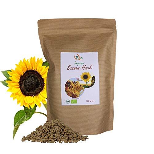 Bio Hackfleisch Ersatz aus Sonnenblumen - 500 g - Fleischersatz - Reich an Protein & arm an Kohlenhydraten - Veganes Sonnen Hack - Lactose & Glutenfrei