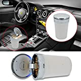 machswon car cup holder ashtray, portable car ashtray with cover, led lamp, automatic smoke