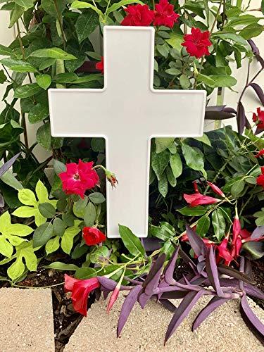Solar Lighted Cross by Eternal Light | Illuminated Grave Marker Heartfelt Cemetery Decoration