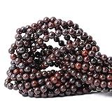 Qiwan 60PCS 6mm Natural Brecciated Jasper Gemstone Round Loose Beads for Jewelry Making 1 Strand 15'