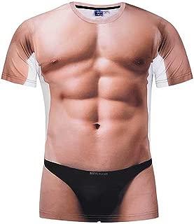3D Naked Body Pattern Design Shirts Fashion Muscle Tshirt Funny Prank