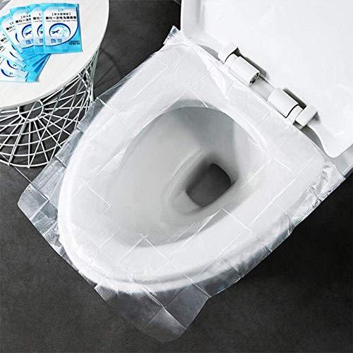 MEIGONGJU 50pc Reise Einweg WC Pad Wasserdicht Bakterien Schwangere Frau Postpartale Toiletten-Abdeckung verdicken Mietklo Kissen Papier