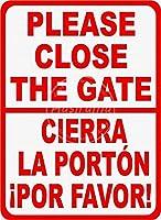 ゲートを閉じるブリキの看板壁の装飾金属ポスターレトロなプラーク警告サインオフィスカフェクラブバーの工芸品
