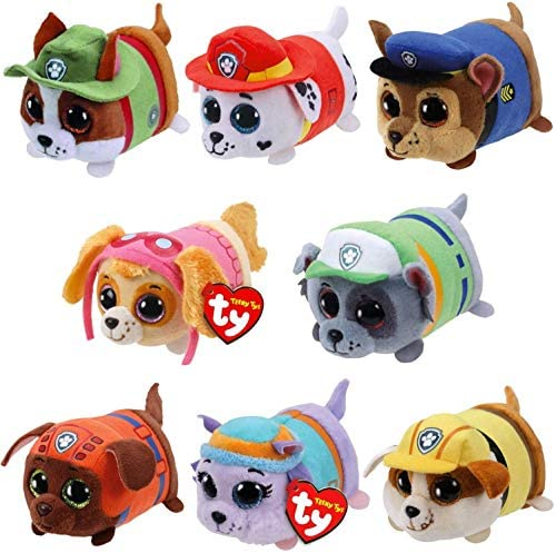 TY Beanie Boos 4 Teeny Tys Paw Patrol TY Stackable Plush Complete Set of 8 Chase Marshall Rubble product image