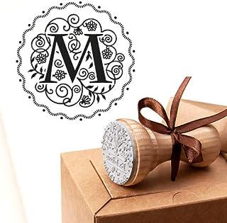 Timbro Lettera M Iniziali Timbri Lettere Alfabeto Monogramma M Idee Regalo Aziendale