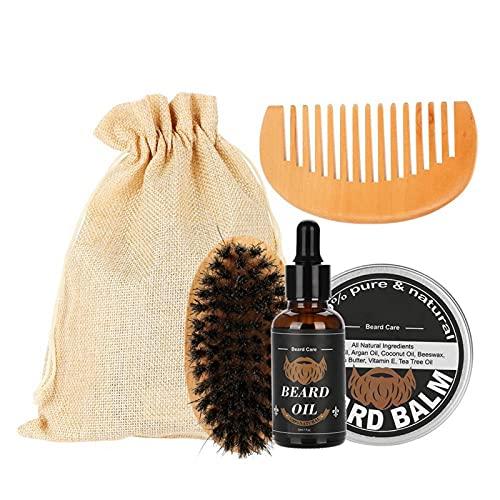 Kit de peine para barba, set de aceite para barba, duradero, para hombre, perfecto para el uso diario