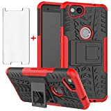 Phone Case for Google Pixel 2 with Tempered Glass Screen