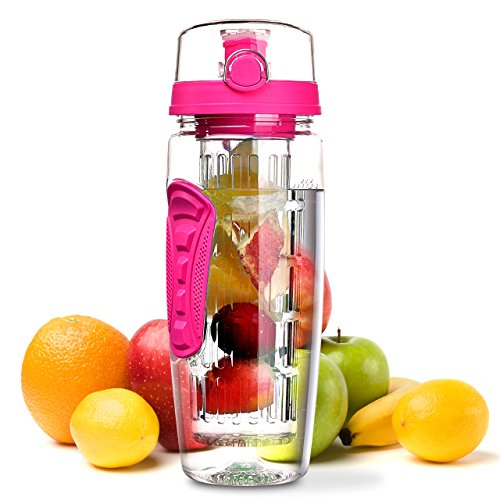 Fruit Infuser Water Bottle, OMORC 1 Litre Leakproof Sport Water Bottle...