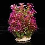 Planta Plástico Decoración para Acuario Pecera Color Púrpura Verde
