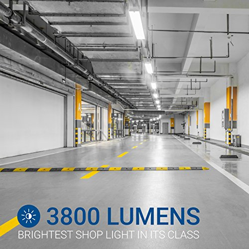 HyperSelect 4 Foot LED Lighting, 100 Watt Replacement (35W), Shop Garage Lighting, 4000K Daylight, Non Dimmable