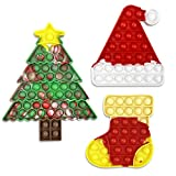 JoFAN 3 Pack Christmas Pop Fidget Toys Packs for Kids Girls Boys Toddlers Christmas Stocking Stuffers Party Favors Gifts Stress Relief