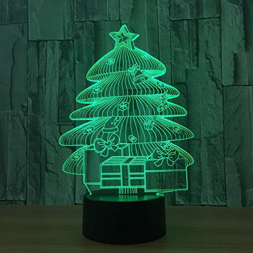 Nachtlicht des Weihnachtsbaums 3d einzigartige bunte geführte Noten-entfernte Schreibtischlampe