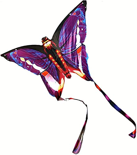 LQW HOME-kite Outdoor Drachen Neue Schmetterling Dreieck Drachen Kinder Drachen Schmetterling Drachen Kinder Drachen Erwachsene Drachen Brise Drachen Easy Fly (Farbe   lila, Größe   800meter line)