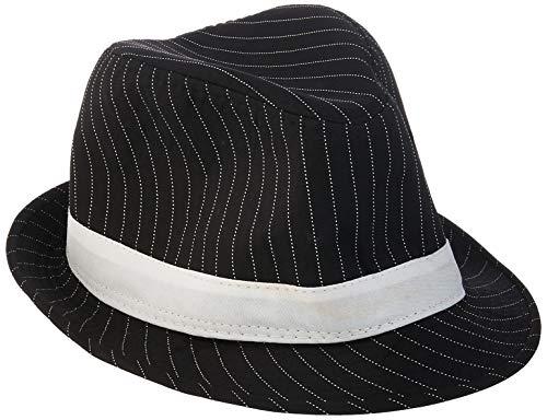 Loftus International Loftus 1920S Gangster Mob Boss Costume Pinstripe Fedora (Black)