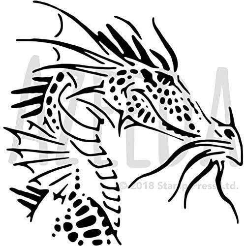Azeeda A4 'Drachenkopf' Wandschablone / Vorlage (WS00014215)