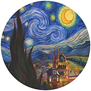 Vincent Van Gogh Painting Starry Night Durable Cloth Cover Round Mouse Pad 9.84