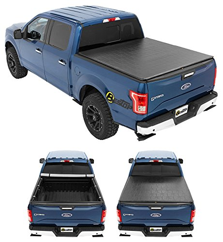 Bestop 1811301 ZipRail Soft Tonneau Cover For 2004-2018 Ford F-150 Crew...