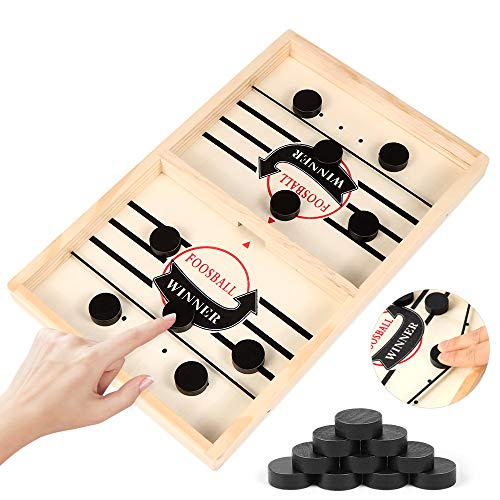 Zaloife Brettspiel Hockey, Katapult Brettspiel, Bouncing Hockey, Bouncing Brettspiel, Fast Sling Puck Game, Bouncing Chess Hockey Game, Hockey Brettspiel, Interaktives Eltern-Kind-Schachspielzeug