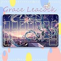 GraceLeacock カードゲームプレイマット 遊戯王 プレイマット VOCALOID ボーカロイド 初音ミク Hatsune Miku TCG万能 収納ケース付き アニメ 萌え カード枠あり (60cm * 35cm * 0.4cm)