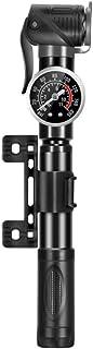 BESPORTBLE Mini Bike Pump Aluminium Alloy Portable Bicycle Tire Pump Ball Bike Tyre Inflator Air Pump with Pressure Gauge ...