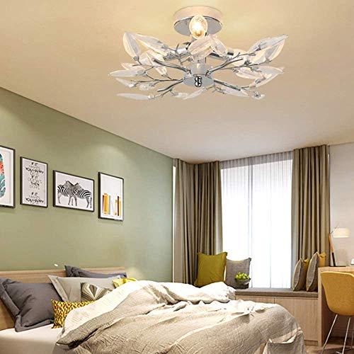Lampada da Soffitto Cristallo, E14 Plafoniera a Sospensione Moderna per camera da letto Sala da pranzo Decorazione per feste