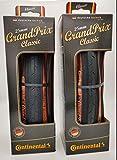 Continental Grand Prix Classic - Folding Bike Tire, Black, 700cm x 25 - Pair (2 Tires)