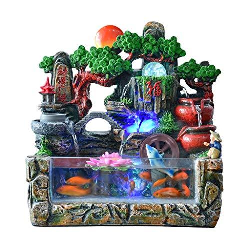 Fuente de Agua Eléctrica de Escritorio Suerte la decoración del hogar regalo...