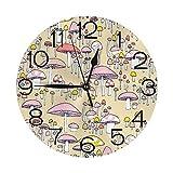xinping Reloj de pared de setas coloridas moda reloj digital redondo lujo mute relojes de pared Características decoración interior
