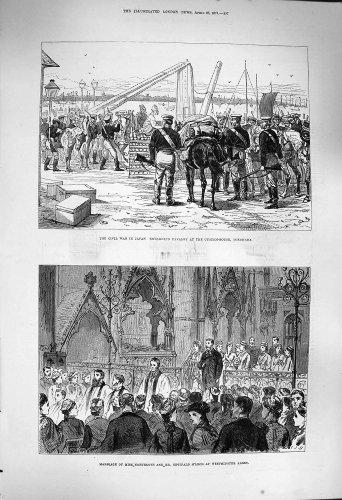 1877 Soldados Yokohama Northcote M'Leod de Japón de la Guer