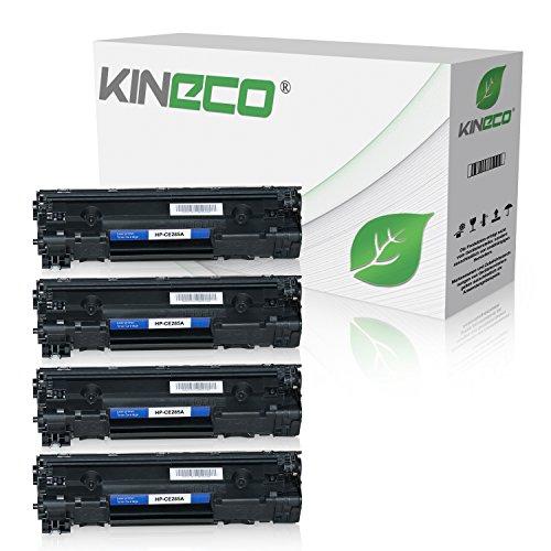 4 Kineco Toner kompatibel zu HP CE285A CE285X Laserjet Pro P1100, Laserjet Pro P1102w ePrint, Laserjet Pro M1132 All-in-One - 85A - Schwarz je 2.100 Seiten