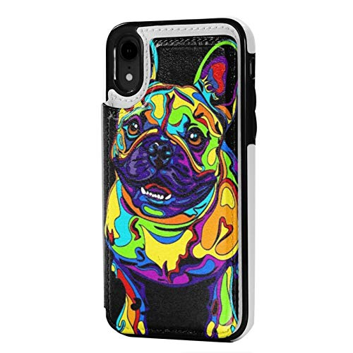 iPhone Xr Case PU Leather Wallet case French Bulldogs Flip Phone Cases Cover Slim Protective Case with Card Holder