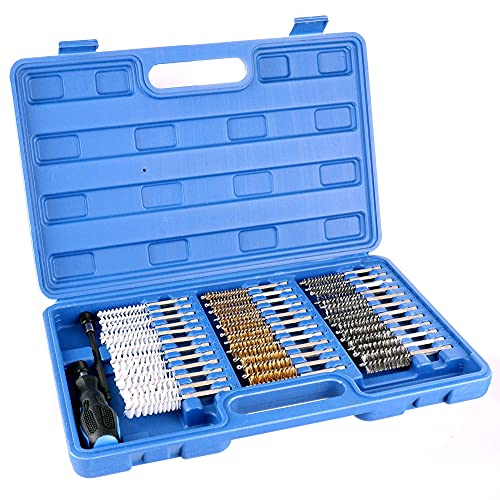 Kit de nettoyage sièges puits d'injecteurs et bougies brosses