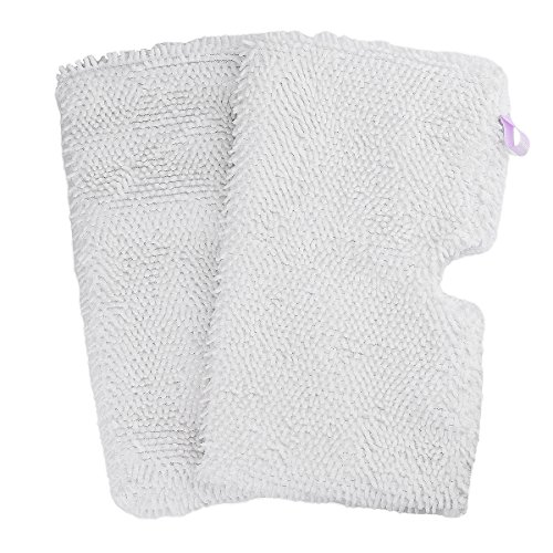 F Flammi 2 Pack Washable Microfiber Mop Pads Cleaning Pads Replacement for Shark Steam Pocket Mops S3500 series S3501 S3601 S3550 S3901 S3801 SE450 S3801CO S3601D (White)